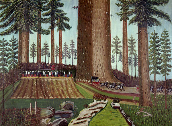 Painting - Dance On The Sequoia Stump by Granger