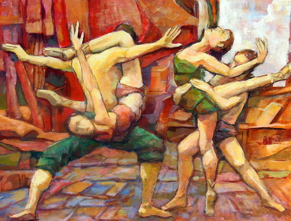 Ballroom Painting - Dance Painting Caravaggio by Alfons Niex