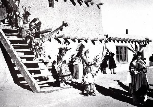 Digital Art - Dance San Ildefonso Peublo New Mexico 3 by Ansel Adams