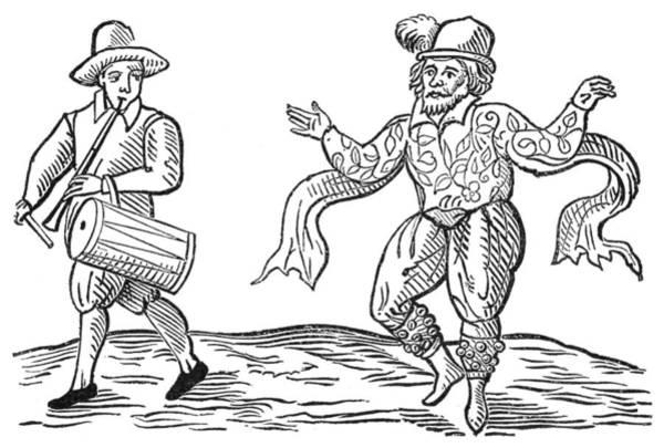 Fife Painting - Dance The Morris, 1600 by Granger