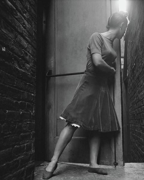 Wall Photograph - Dancer Anita Alvarez Looking Out Of A Backstage by Frances McLaughlin-Gill
