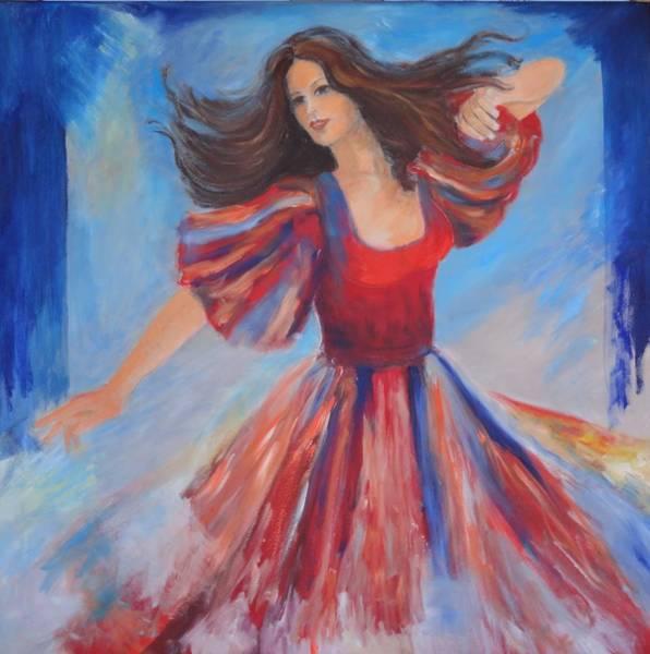 Menschenbild Painting - Dancer by Dagmar Helbig