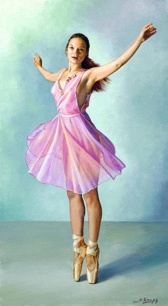 Dress Painting - Dancer In Pink by Paul Krapf