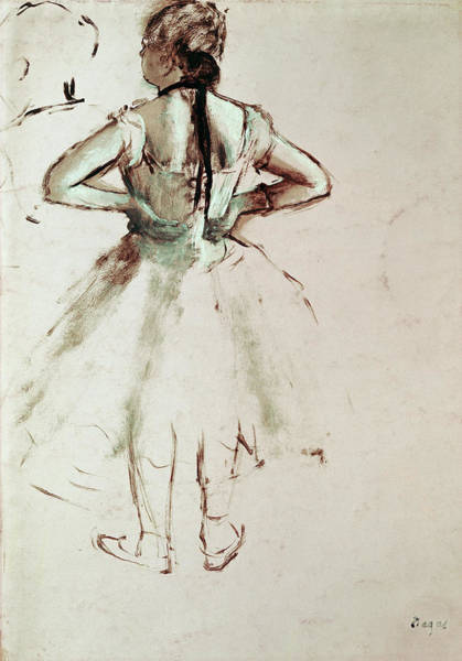 Pastel Drawing Painting - Dancer Viewed From The Back by Edgar Degas