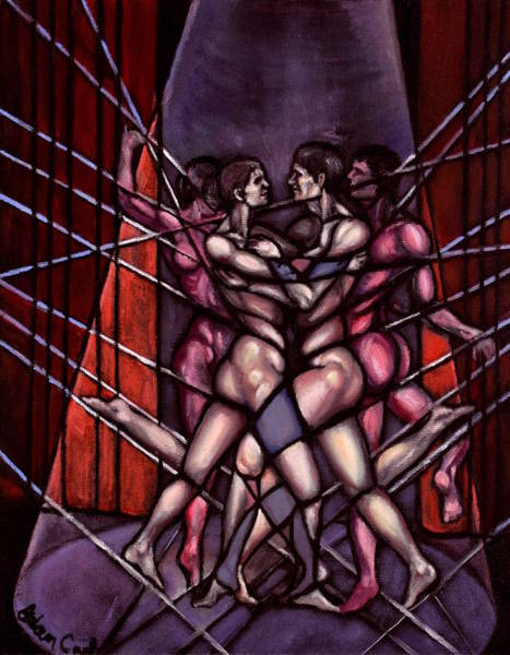 Entangled Painting - Dancers by Adam B Cook