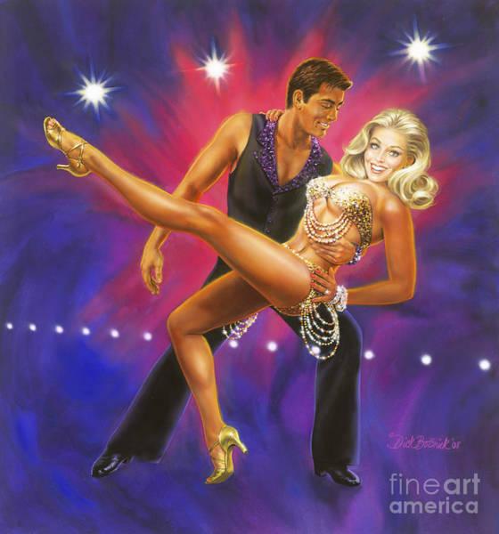 Ballroom Painting - Dancer's Fantasy by Dick Bobnick
