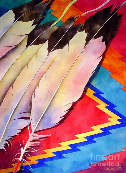 Asian Wall Art - Painting - Dancer's Feathers by Robert Hooper