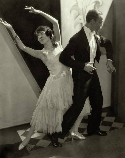 Two People Photograph - Dancers Fred And Adele Astaire by Edward Steichen