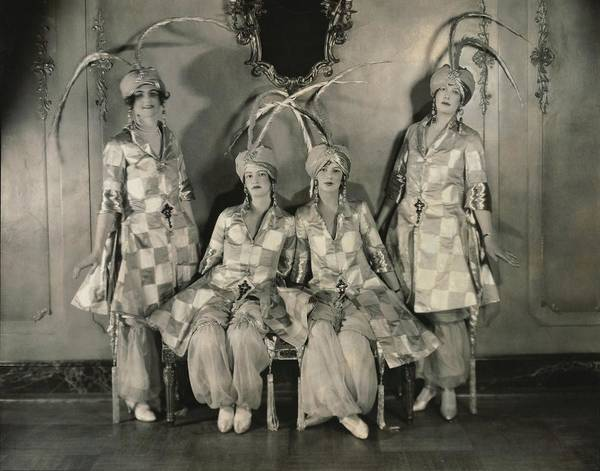 Four People Photograph - Dancers In Persian Costumes by Edward Steichen