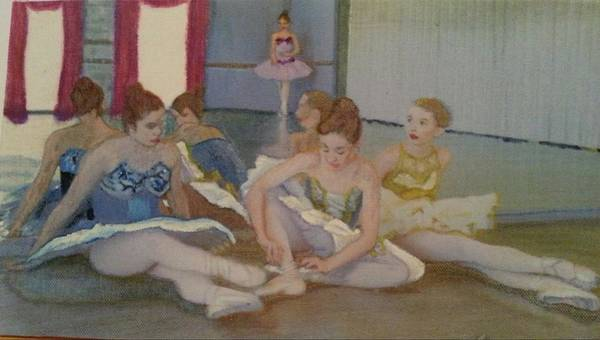 Practice Mixed Media - Dancers Take Five by Pamela Smale Williams