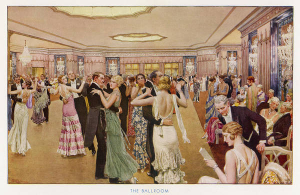 Wall Art - Drawing - Dancing At The Dorchester  Hotel by Mary Evans Picture Library