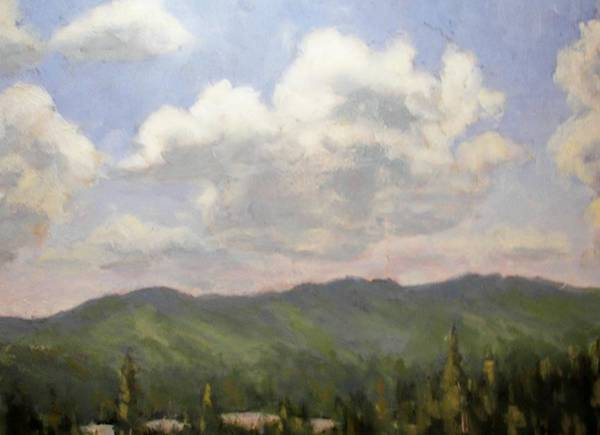 Adirondack Mountains Painting - Dancing Clouds by Robert Stump