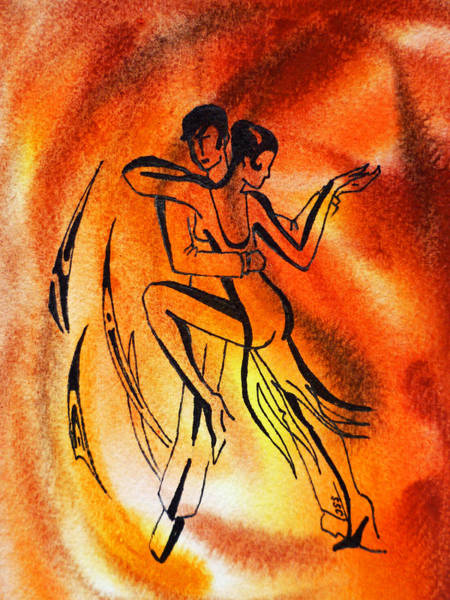 Fire Dance Wall Art - Painting - Dancing Fire Iv by Irina Sztukowski