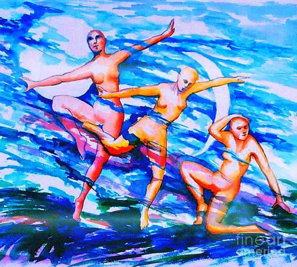 Painting - Dancing In Moonlight by Nancy Wait