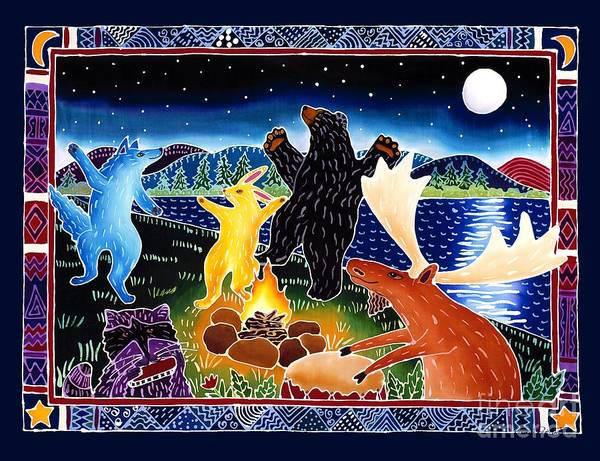 Fire Dance Wall Art - Painting - Dancing In The Moonlight by Harriet Peck Taylor