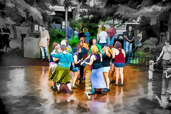 Asheville Mixed Media - Dancing In The Rain by John Haldane