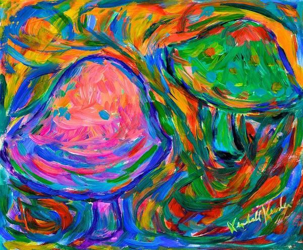 Painting - Dancing Mushrooms by Kendall Kessler