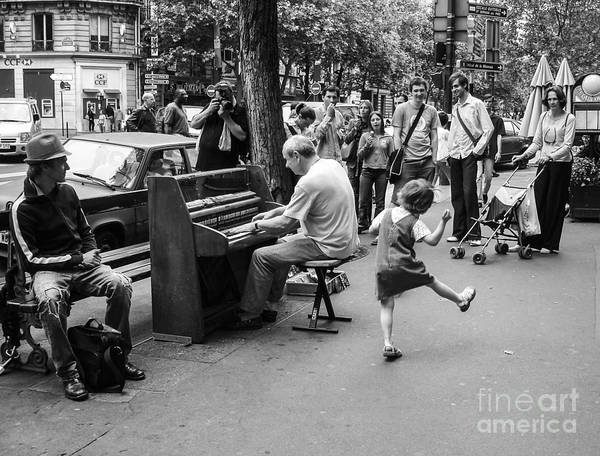 Carefree Wall Art - Photograph - Dancing On A Paris Street by Diane Diederich