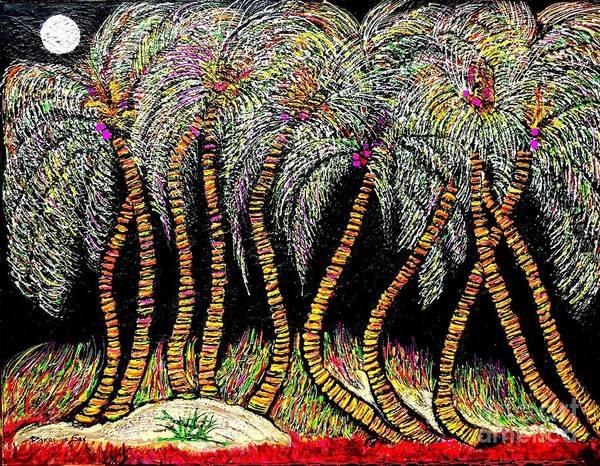 Sax Painting - Dancing Palms by Darlyne Sax