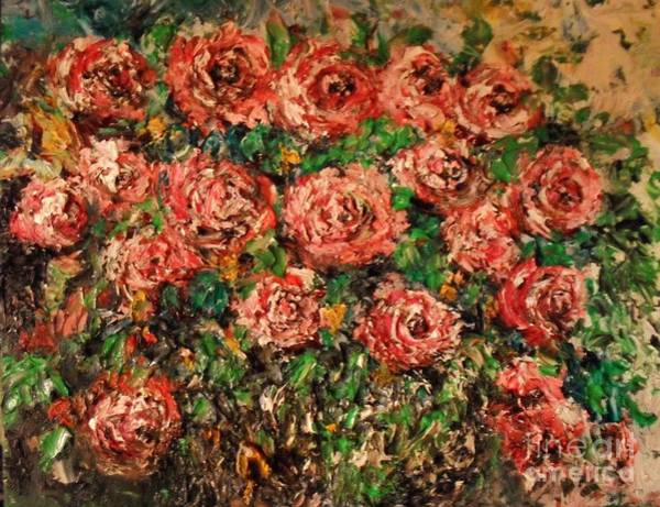 Painting - Dancing Red Roses by Laurie Lundquist
