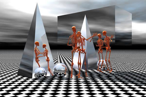 Bryce Digital Art - Dancing Reflections by Claude McCoy