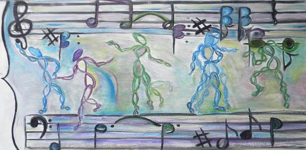Double Helix Painting - Dancing To Infinity by Kerry Ciotti