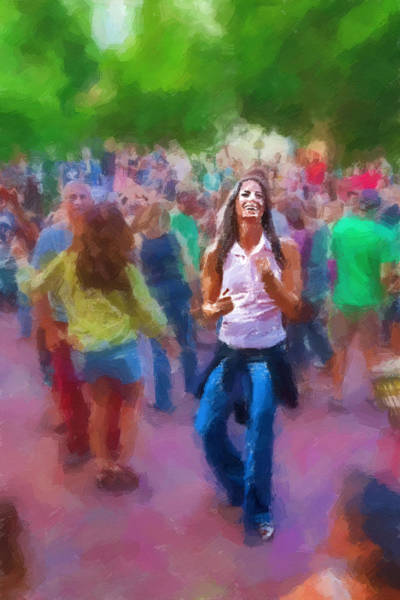 Asheville Mixed Media - Dancing To The Drums by John Haldane