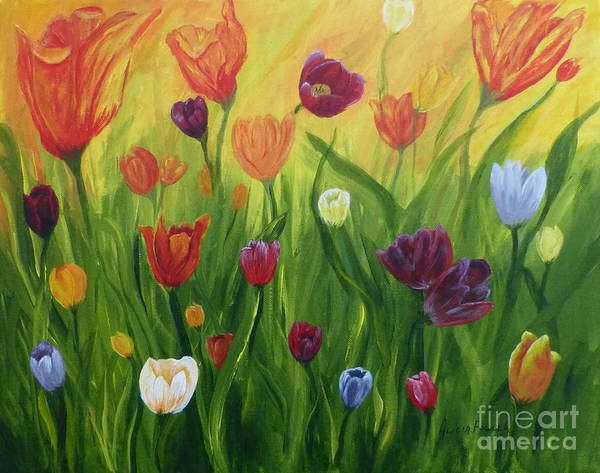 Painting - Dancing Tulips by Alicia Fowler