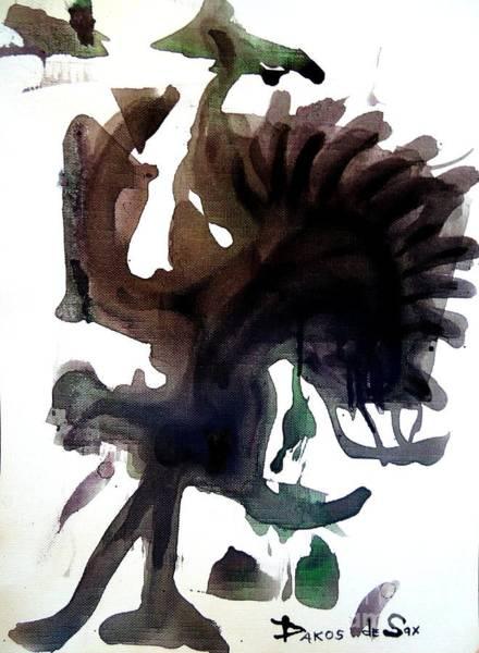 Sax Drawing - Dancing Warrior by Darlyne Sax