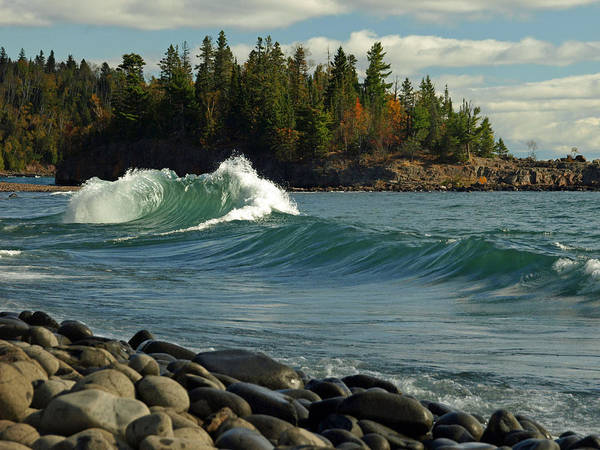 Photograph - Dancing Waves by James Peterson