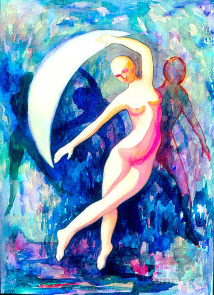 Painting - Dancing With Shadow Self by Nancy Wait