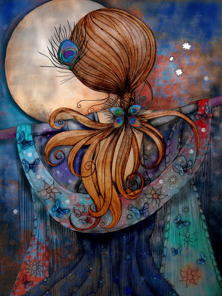 Enchantment Painting - Dancing With The Moon by Karin Taylor