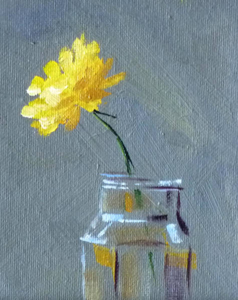 Wall Art - Painting - Dandelion by Nancy Merkle