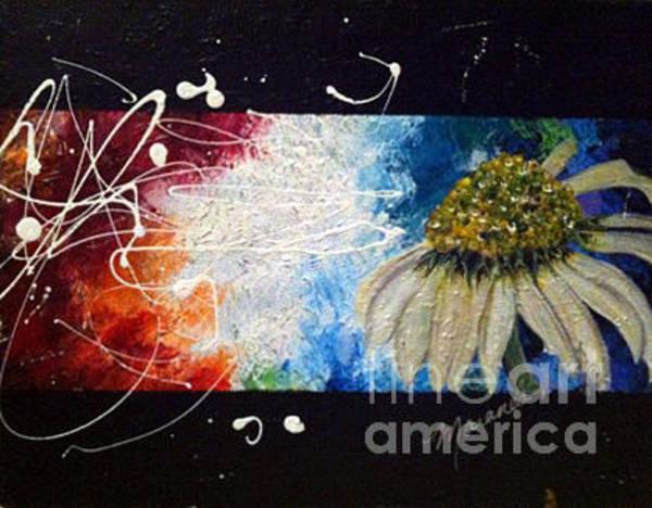 Dandilions Painting - Dandilion Flower by Maranda Diep