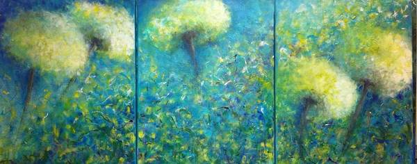Dandilions Painting - Dandilions by Debra Wronzberg