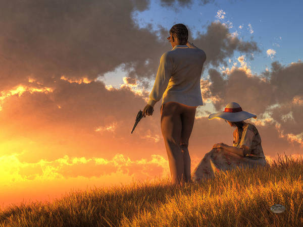 Suspense Digital Art - Danger At Sundown by Daniel Eskridge