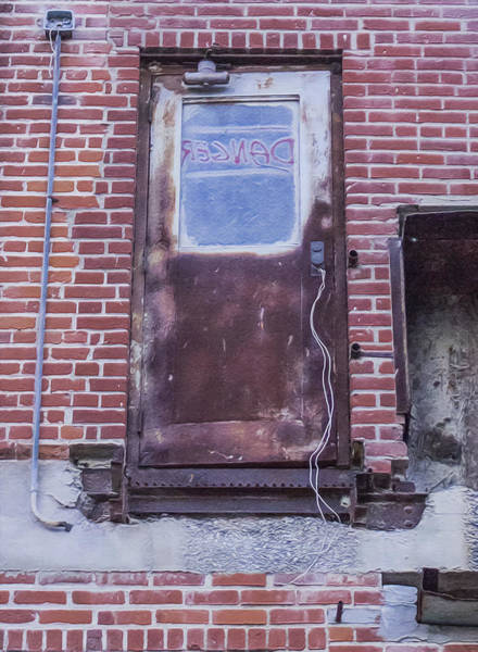 Photograph - Danger Door by Wes Jimerson