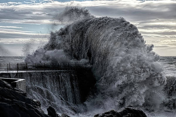 Explosion Photograph - Danger Pier by Roberto Zanleone