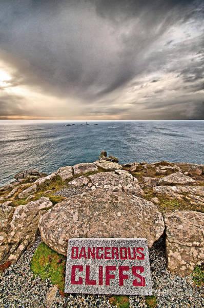 Penwith Photograph - Dangerous Cliffs by Chris Thaxter