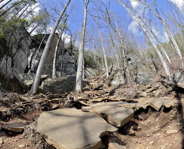 Dangerous Hiking Trail Art Print