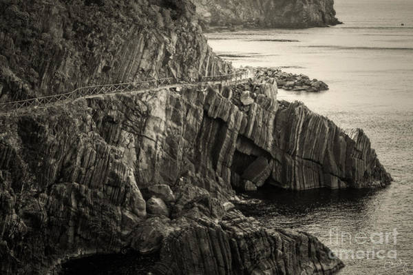 Photograph - Dangerous Passage Of Cinque Terre by Prints of Italy