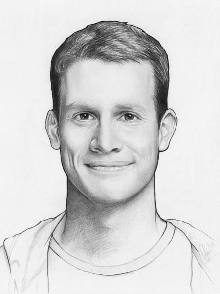 0 Wall Art - Drawing - Daniel Tosh by Olga Shvartsur