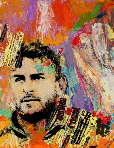 Wall Art - Painting - Daniele De Rossi by Corporate Art Task Force