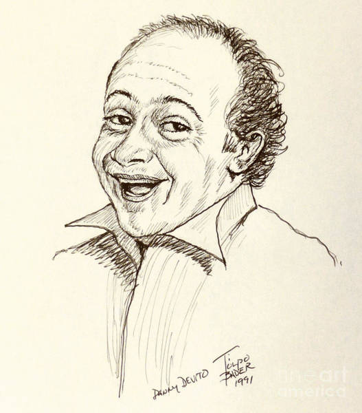 Drawing - Danny Devito by Art By - Ti   Tolpo Bader