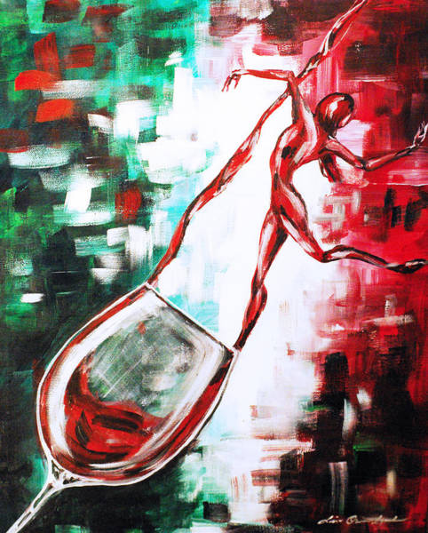 Painting - Dans Le Vin Mistero by Lisa Owen-Lynch