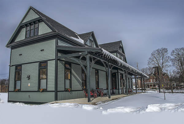 Wall Art - Photograph - Dansbury Depot In The Winter by Dave Sandt