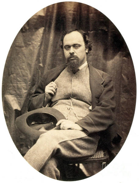 Photograph - Dante Gabriel Rossetti English Poet by Photo Researchers