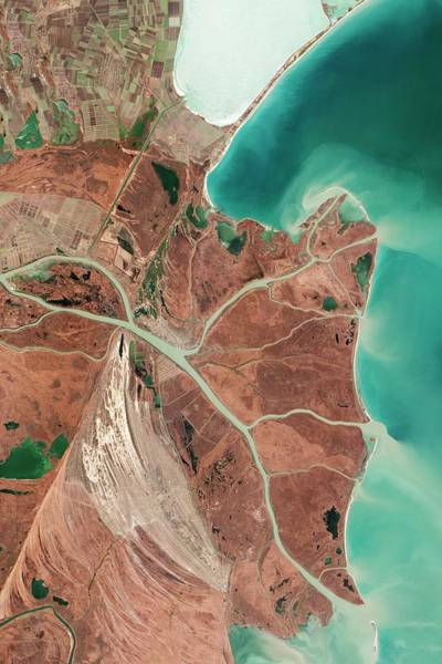 Satellite Photograph - Danube Delta by Nasa Earth Observatory/jesse Allen And Robert Simmon/eo-1 Team/us Geological Survery