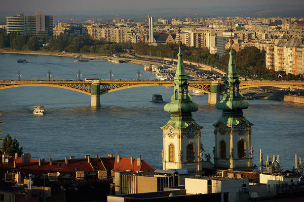 Capital Cities Photograph - Danube River And Budapest, Hungary by Chlaus Lotscher