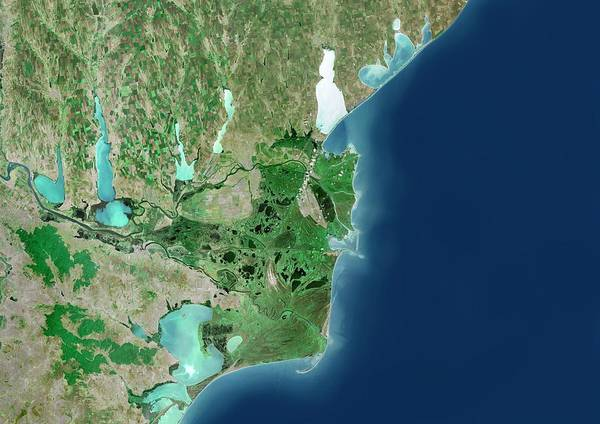 River Delta Photograph - Danube River Delta by Planetobserver/science Photo Library